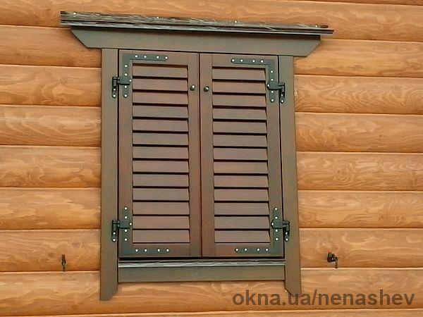Ставни на окна в деревянном доме своими руками