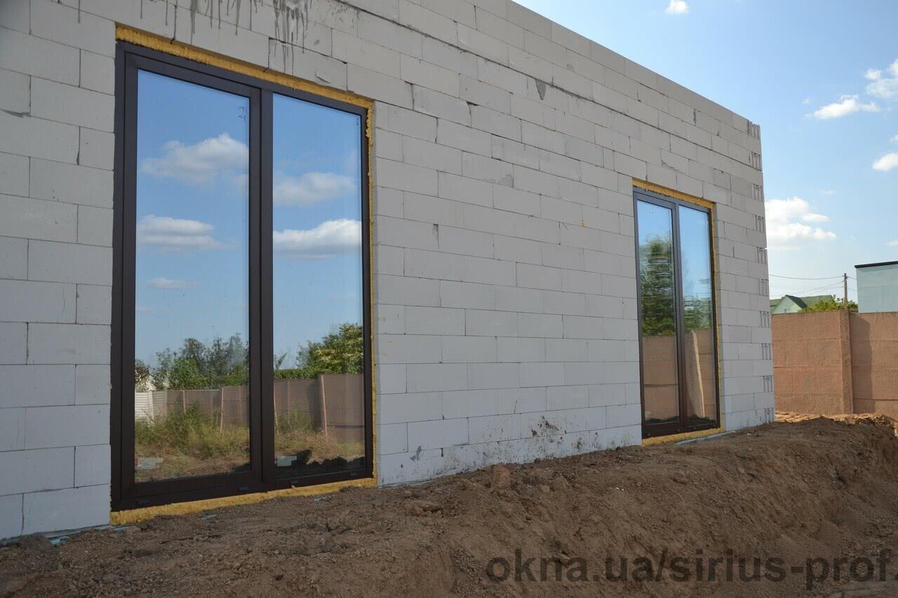 Изготовили и смонтировали панорамные окна и двери из теплого профиля Украинского производства
