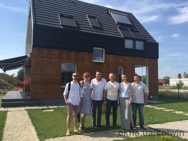 СОЛВИН провела ознакомительную экскурсию по проекту Оптима Хауз для группы архитекторов из Киева и Кишинева