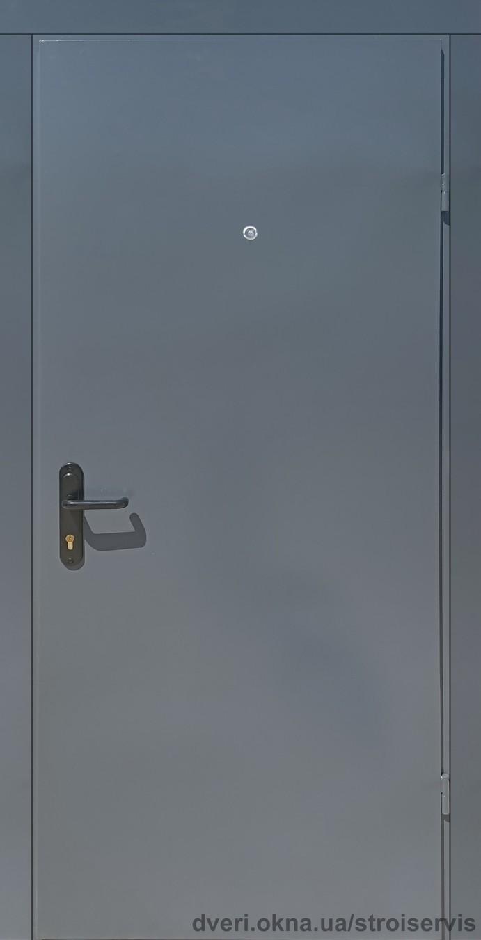 Новинка Металлические входные двери Техно 2 утепленные на улицу и в тамбур серые (RAL 7024)