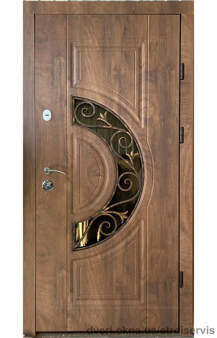 Новинка: двери Редфорт (Redfort) Рассвет винорит со стеклом и ковкой