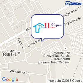 Дизайн Пласт Сервис на карте