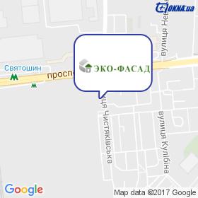 Еко-Фасад на мапі