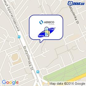 Аэрэко на карте