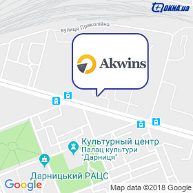 Аквин на карте