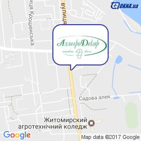 Алегро-Декор на мапі