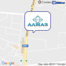 АЛМАЗ на мапі