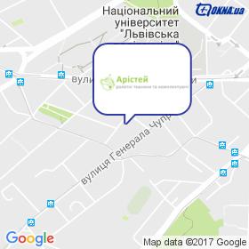 Арістей на мапі