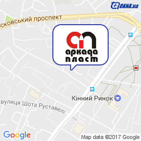 Аркада-Пласт на мапі