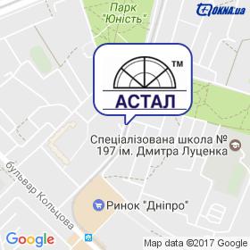 Астал на мапі