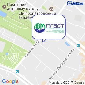 АВМ ПЛАСТ на мапі