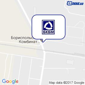 Бориспільський комбінат будівельних матеріалів на мапі
