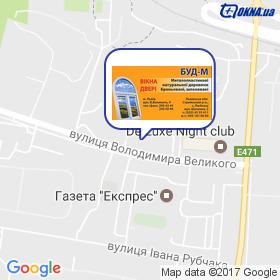 БУД - М на мапі