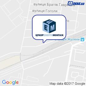 Цукоренергомонтаж на карте