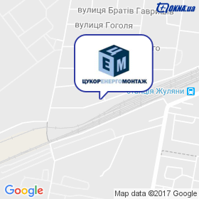 Цукоренергомонтаж на мапі