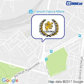 Конкорд на мапі