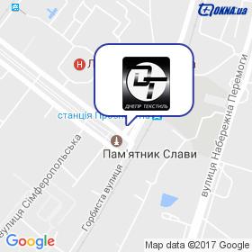 Днепр Текстиль на карте