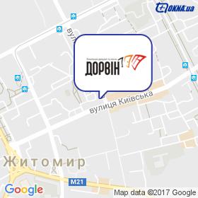 ДОРВИН на карте
