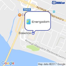 Енергодім на мапі
