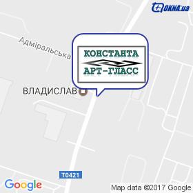 Константа Арт Глас на мапі