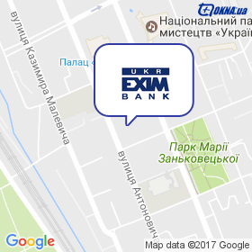 Укрексімбанк на мапі