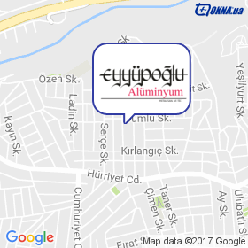 EYYUPOGLU ALUMINUM на мапі