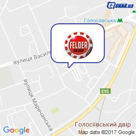Фельдер Груп Україна на мапі