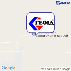 Геоид на карте