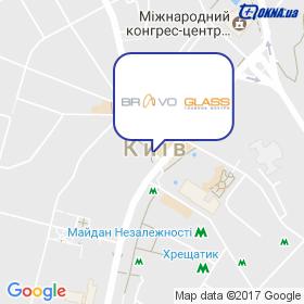 BRAVO GLASS ТМ на мапі