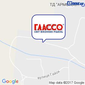 ГЛАССО - БЦ на мапі