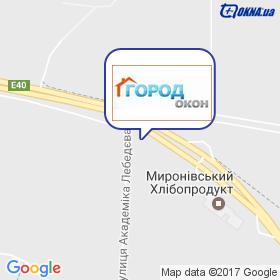 ГОРОД ОКОН на карте