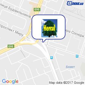 Херкул Україна на мапі