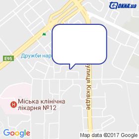 Кам'яний Брід на мапі