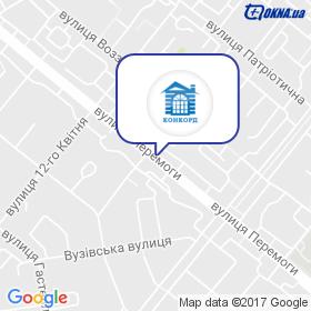 ВКФ Конкорд на мапі