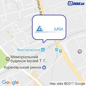 Ліга-Вин на мапі