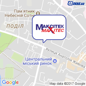 Максітек на карте