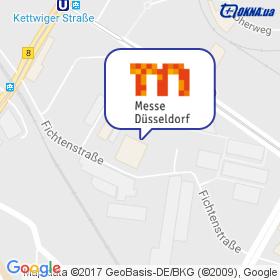 Messe Dusseldorf GmbH на мапі