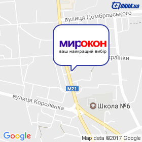 МирОкон на мапі