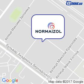 Нормаизол на карте
