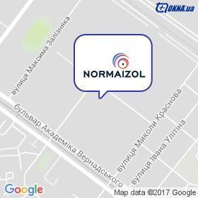 Нормаізол на мапі