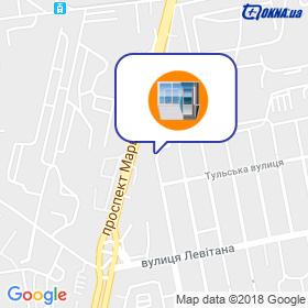 Одесса Пласт на карте