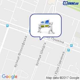 Окнасервіс на мапі