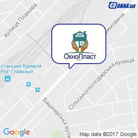 ОкноПласт на карте