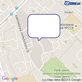 Оконыч на карте - ул. Архитектора Вербицкого 1П, , Украина