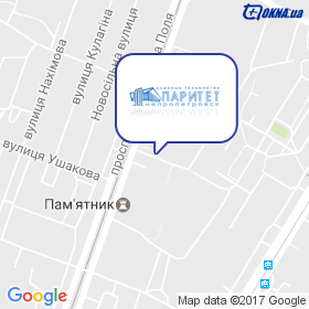 Паритет-Днепр на карте