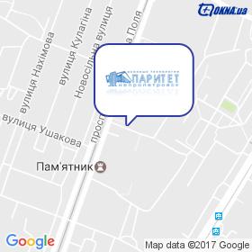 Паритет-Дніпро на мапі
