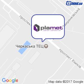 Plamet на мапі