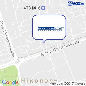 Салон Віконда в Нікополі на мапі