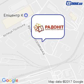 Радонiт-А на мапі
