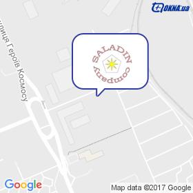 Саладін на мапі